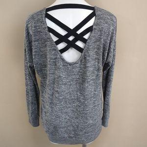 Flirtitude Active Lightweight Knit Athletic Top L